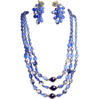 Vintage Miriam Haskell Necklace & Earrings - Signed!! from ...
