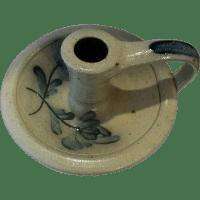 Rowe Pottery Salt Glazed Stoneware Chamberstick ...