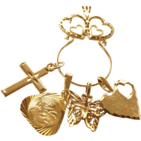 Necklace charm holders gold