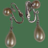 Trifari Faux Pearl Dangle Clip Earrings from manorsfinest ...