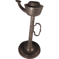 19th Century Pewter Tall Whale Oil Lamp from ...