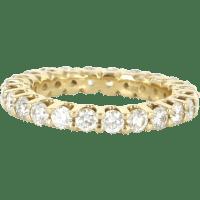 Estate 14 Karat Yellow Gold Diamond Eternity Ring Fine ...