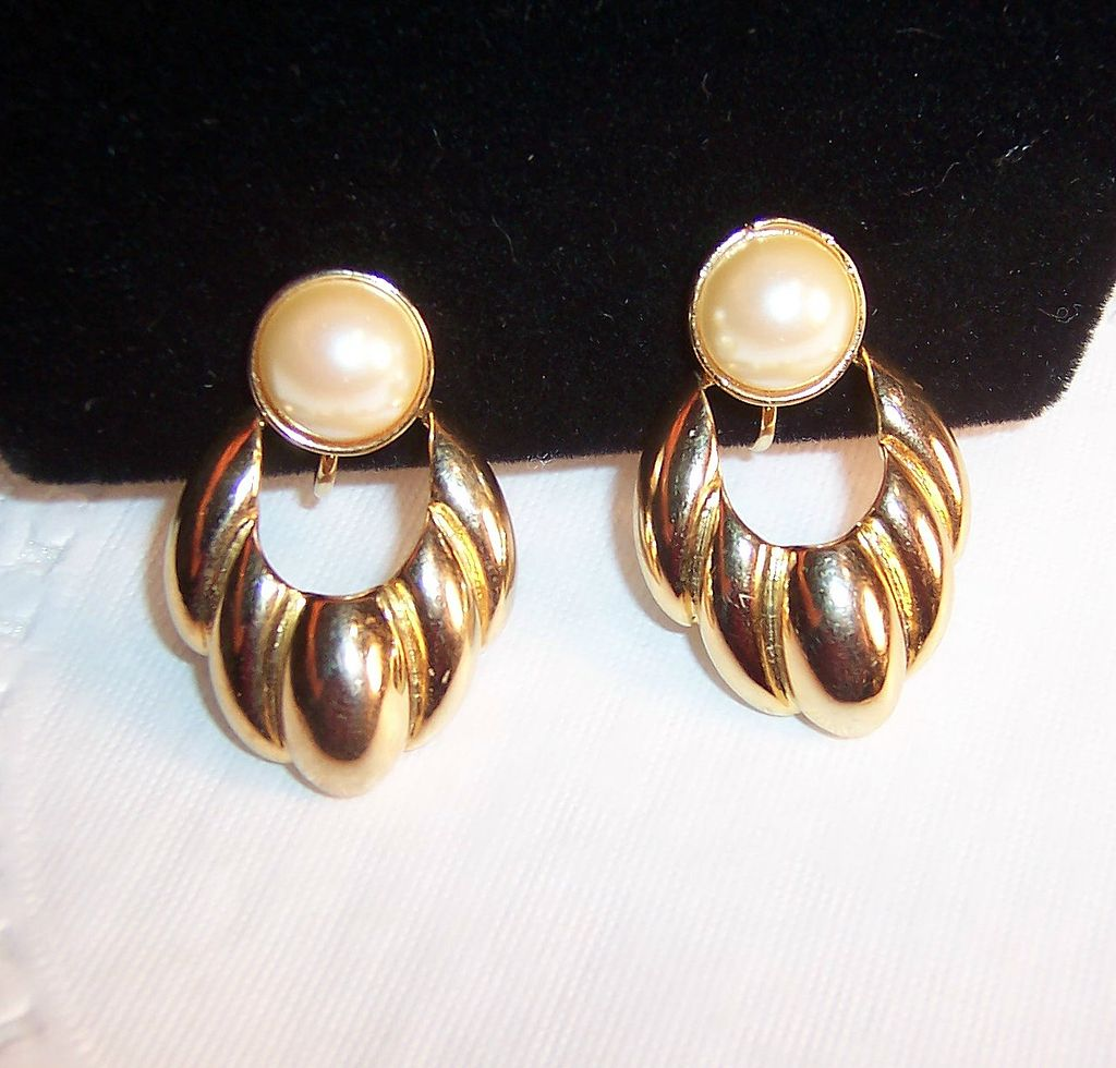 Vintage Sarah Coventry Simulated Pearl Earrings from