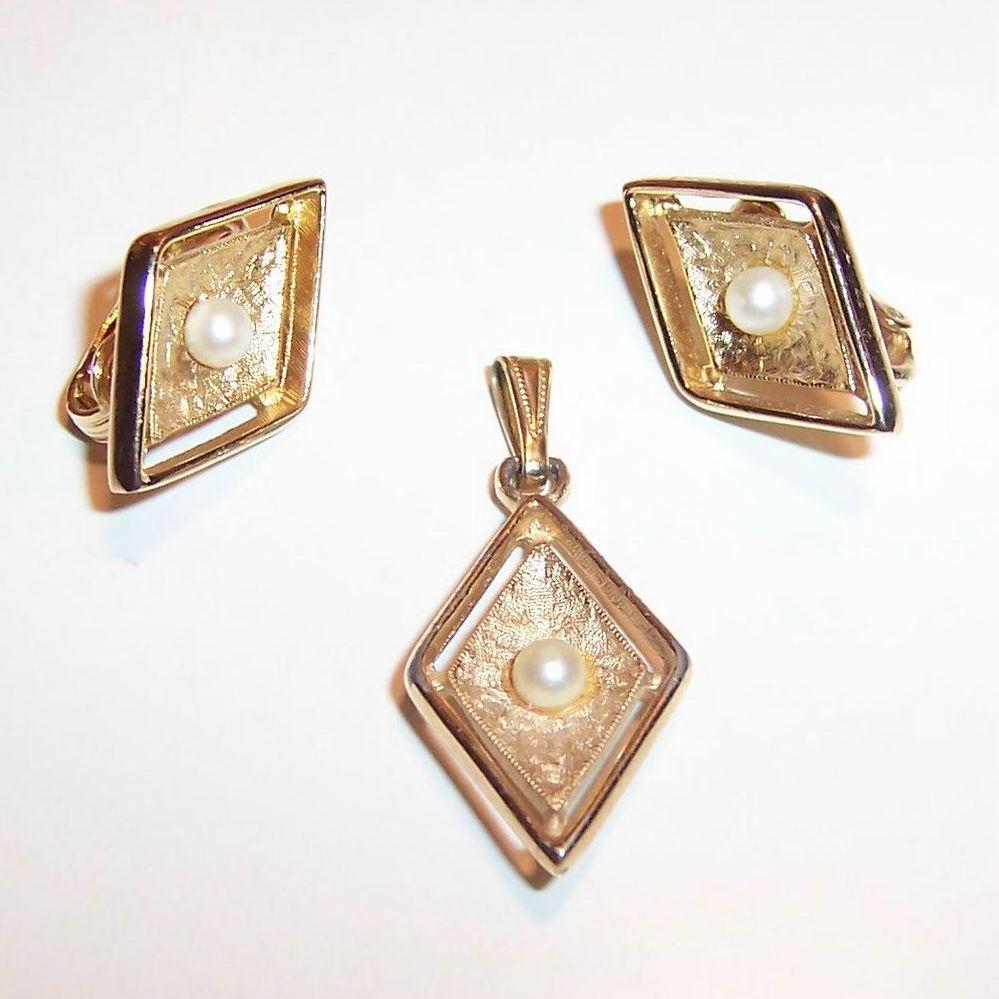 Sarah Coventry Debutante Earrings & Pendant from