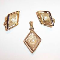 Sarah Coventry Debutante Earrings & Pendant from