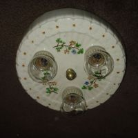 Decorated Porcelain Flush Mount Ceiling Light Fixture from ...