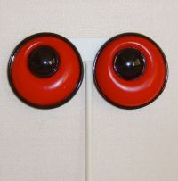 Red and Black Lucite Clip-On Earrings from simplyglamour ...