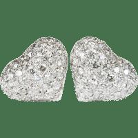 2.80ctw Heart Diamond Stud Earrings 585 14k White Gold ...
