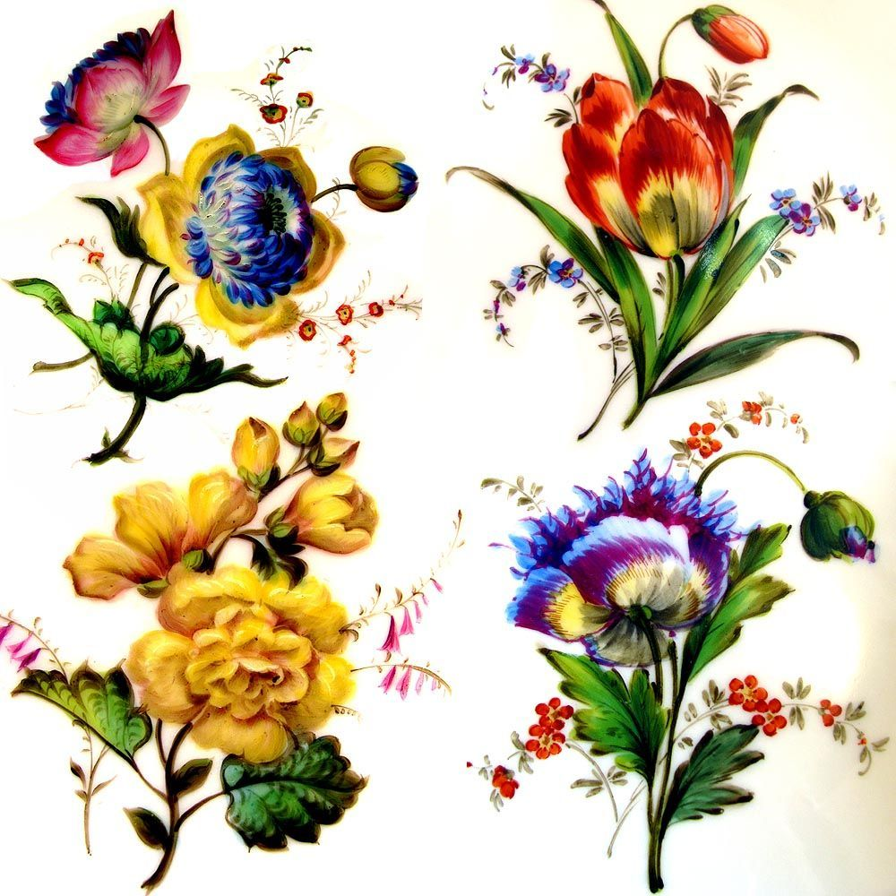 Fall Dessert Wallpaper Antique French Pillivuyt Gilt Porcelain Hand Painted