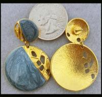 Sassy Edgar Berebi Vintage Pierced Earrings Enamel and ...