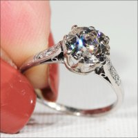 Antique Edwardian 1.75 carat Diamond Solitaire Ring in ...