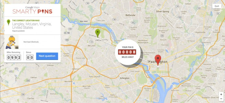 Google Launches Map-Based Quiz Game, Smarty Pins - pins on a map