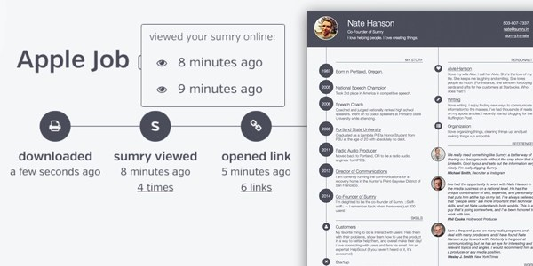 Sumry Adds Trackable PDF and Analytics to Its Interactive CVs