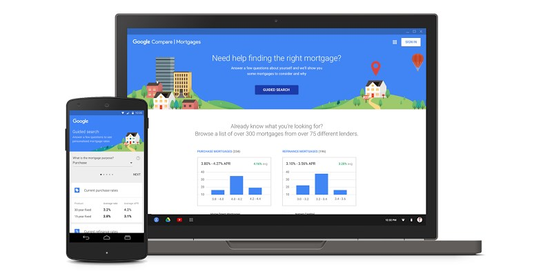Google now lets home buyers in California compare mortgages