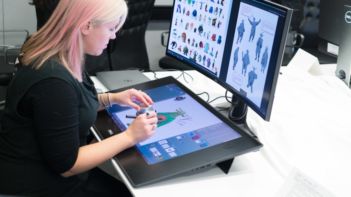 Design Tablett Dell Takes On The Surface Studio With A Ginormous Drawing