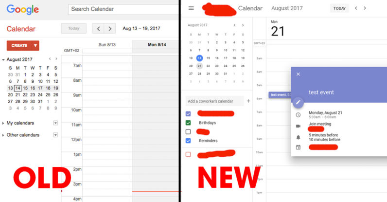 Google is testing a gorgeous new user interface for Calendar