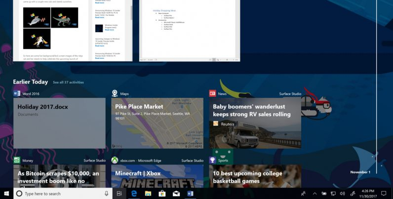 You can try Windows 10\u0027s game-changing new Timeline feature now - timeline windows