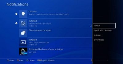 PlayStation 4 update finally lets you delete old notifications