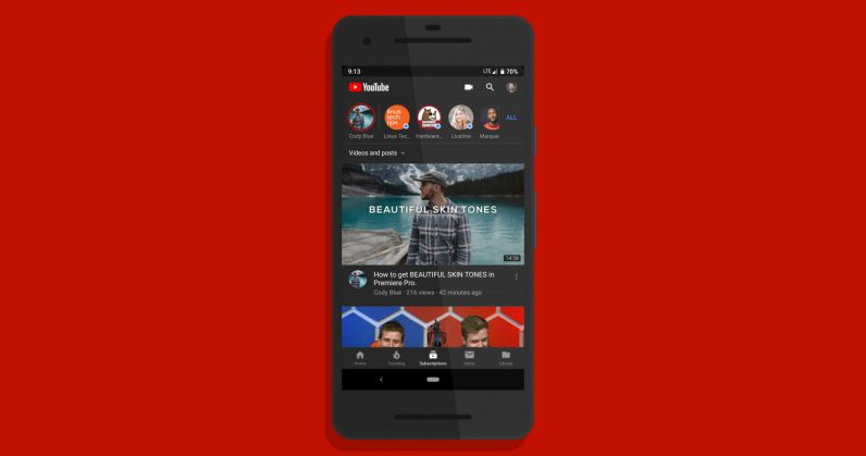YouTube\u0027s Android app is finally getting a dark theme