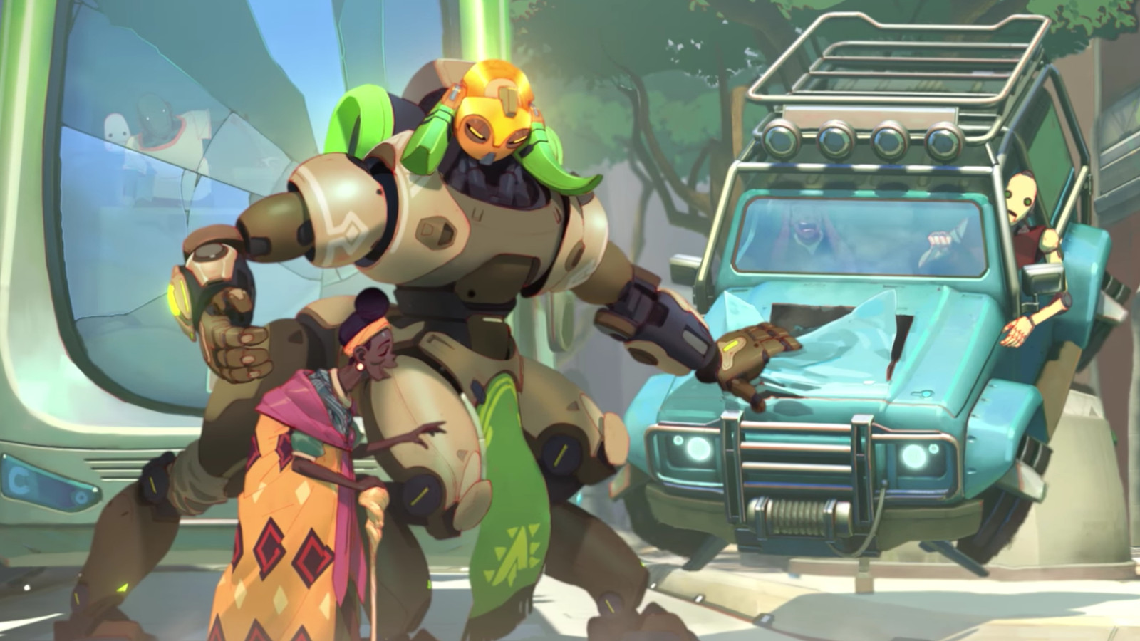 Wallpaper Minecraft Hd 3d Overwatch S New Hero Orisa All Her Skins Emotes And