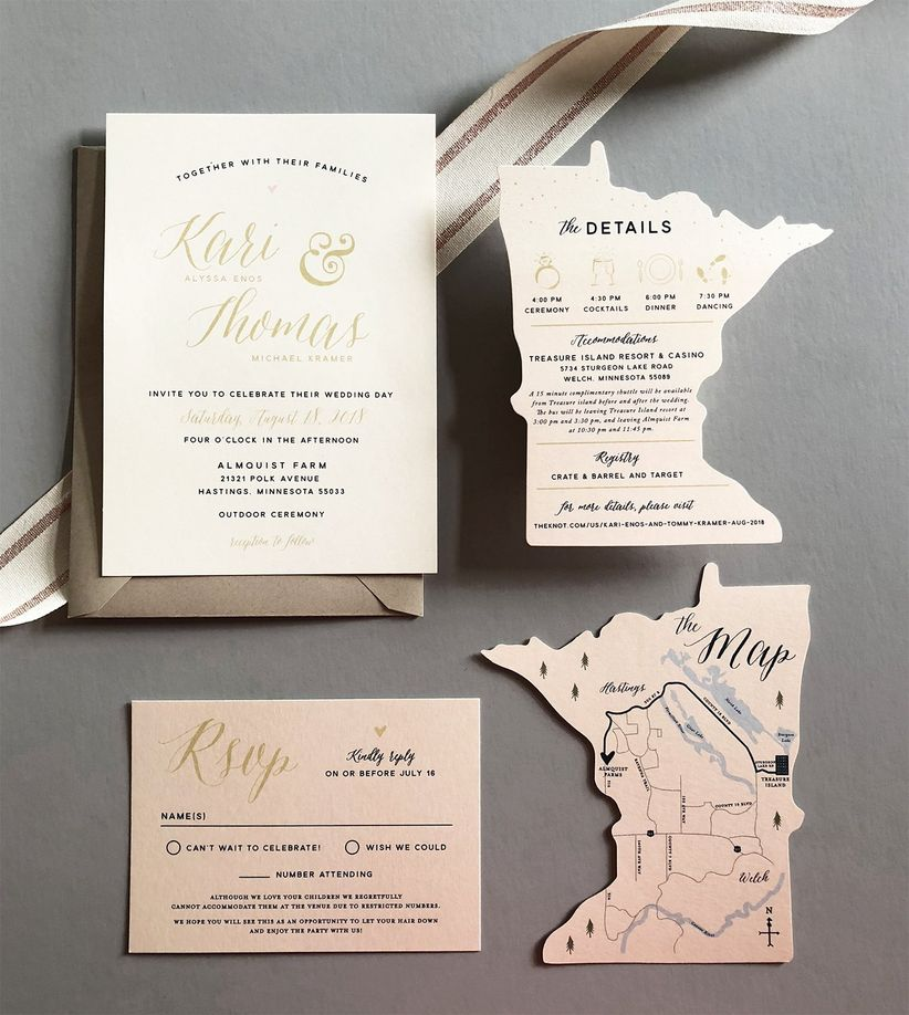 The Wedding Invitation Trends 2019 Couples Must See - WeddingWire