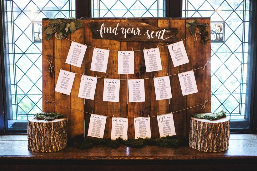 How to Make a Wedding Seating Chart - WeddingWire