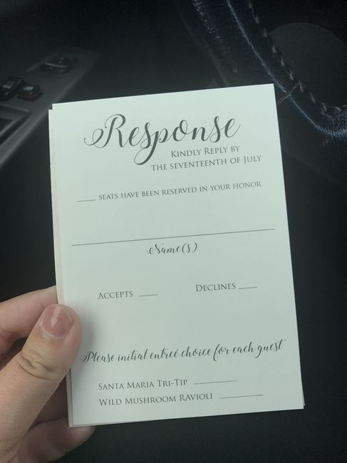 Is Our RSVP Card Confusing?? Weddings, Planning Wedding Forums
