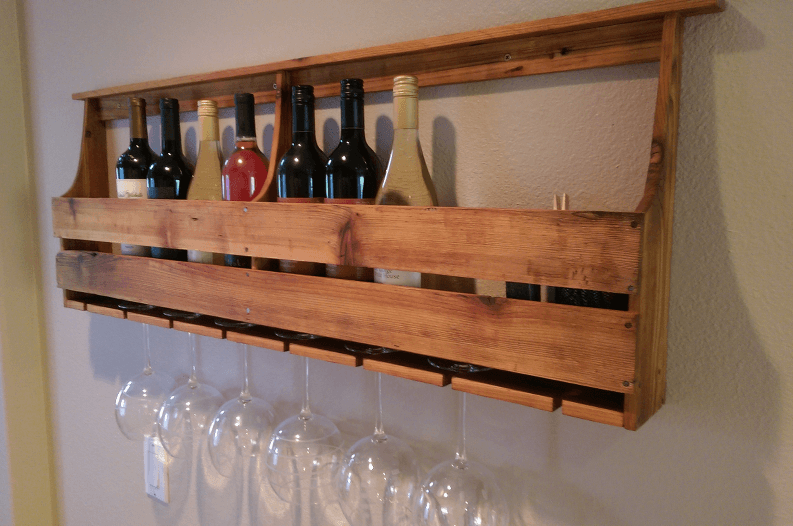 How To Make A Stylish Wine Rack From Salvaged Wood