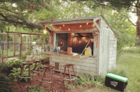 Forget Man Caves, Backyard Bar Sheds Are the New Trend