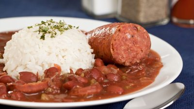 Cajun Red Beans And Rice Recipe — Dishmaps