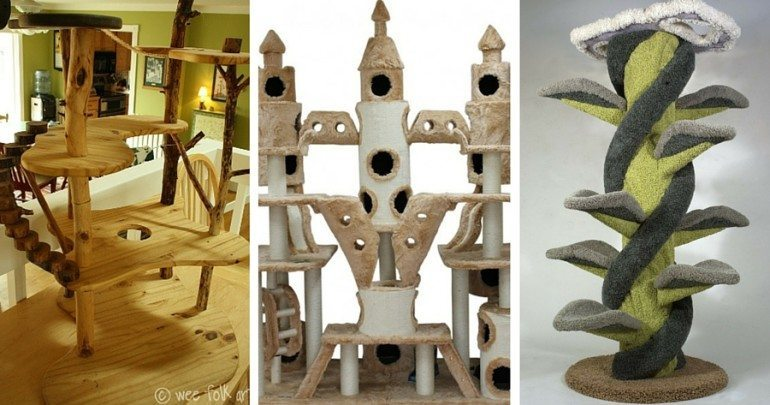 12 Cat Trees So Awesome You39ll Wish You Were Feline