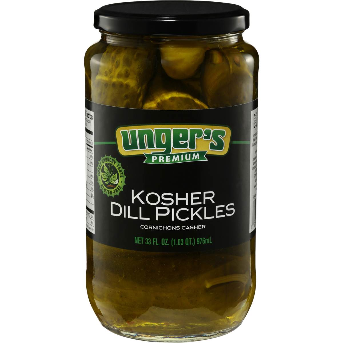 Kosher Pickles Ungers Kosher Pickled Dill 946ml Woolworths
