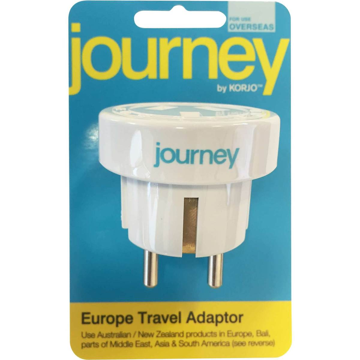 Coles Travel Adaptor Korjo Journey Europe Adaptor Each Woolworths