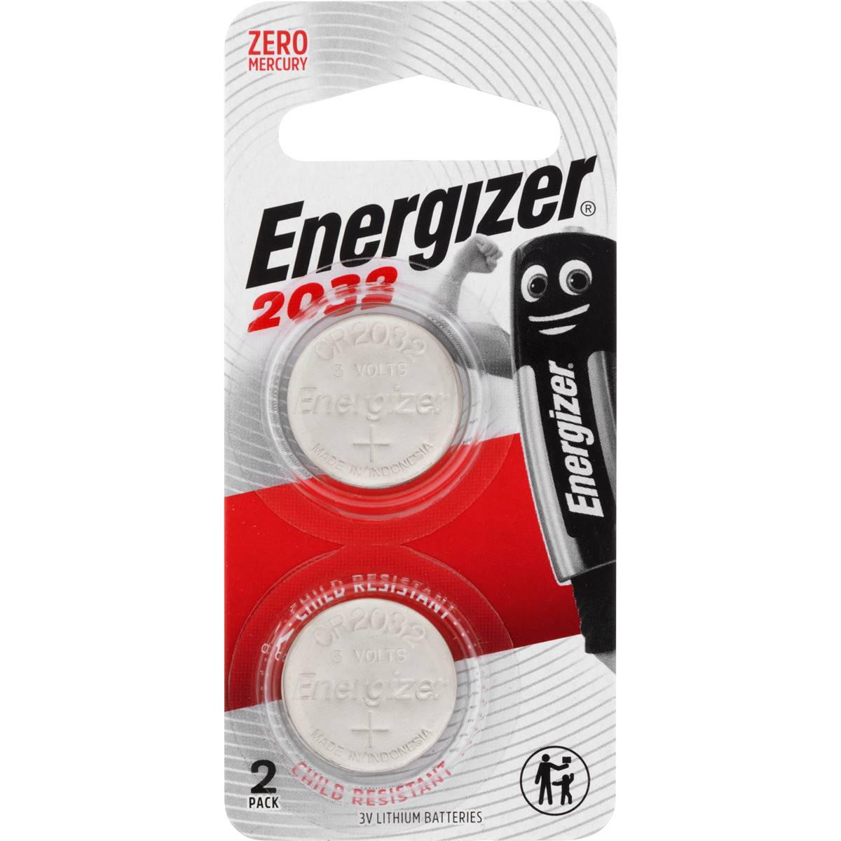 Cr2032 Battery Energizer Button Batteries Cr2032 2 Pack
