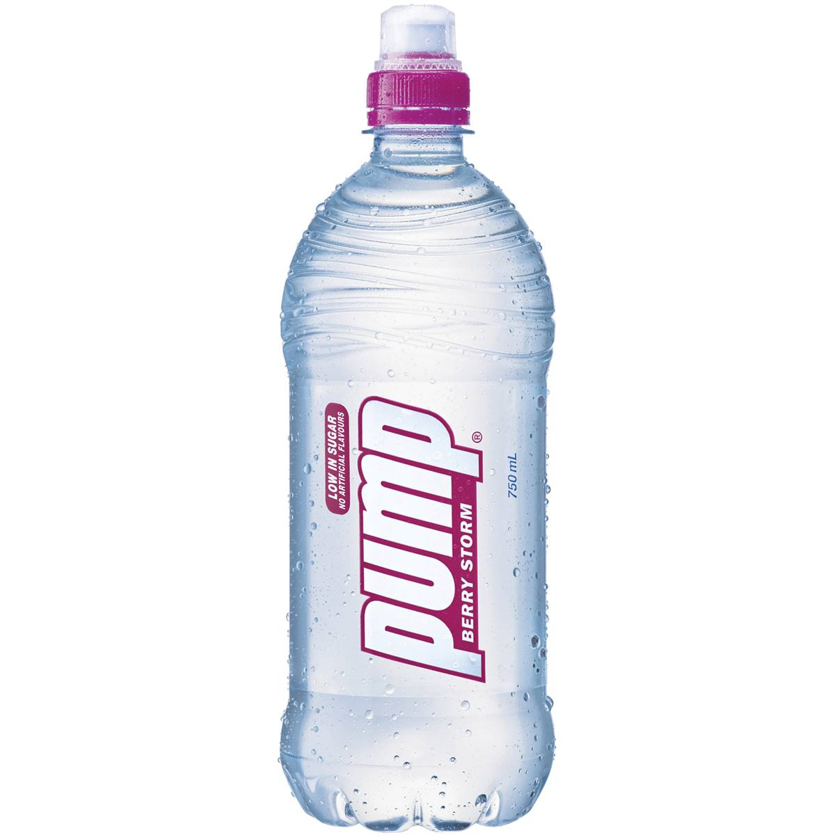 Pump Water Pump Flavoured Water Berry Bottle 750ml Woolworths