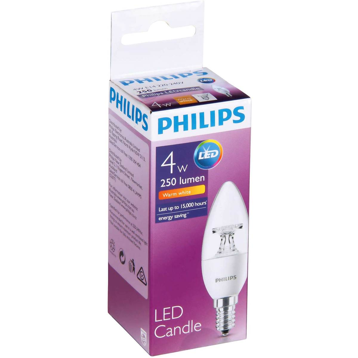 E14 Led Philips Philips Led 25lm Candle E14 B35 Each Woolworths