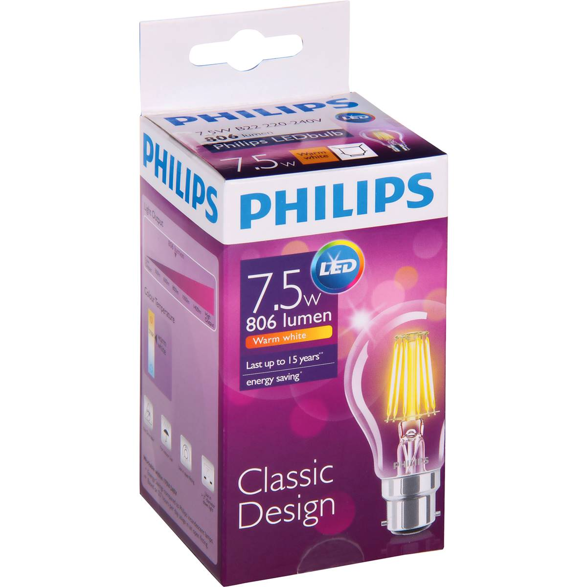 Woolworths Led Globes Philips Light Globe Led Filament 806lm B22 Each Woolworths