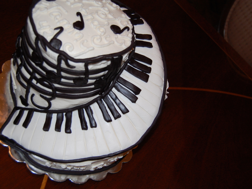 Keyboard Kuchen Musical Keyboard Birthday Cakecentral