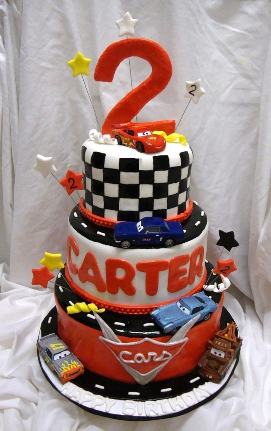 Decoration Gateau Cars 3 Cars 3 Tier Racing Track - Cakecentral.com