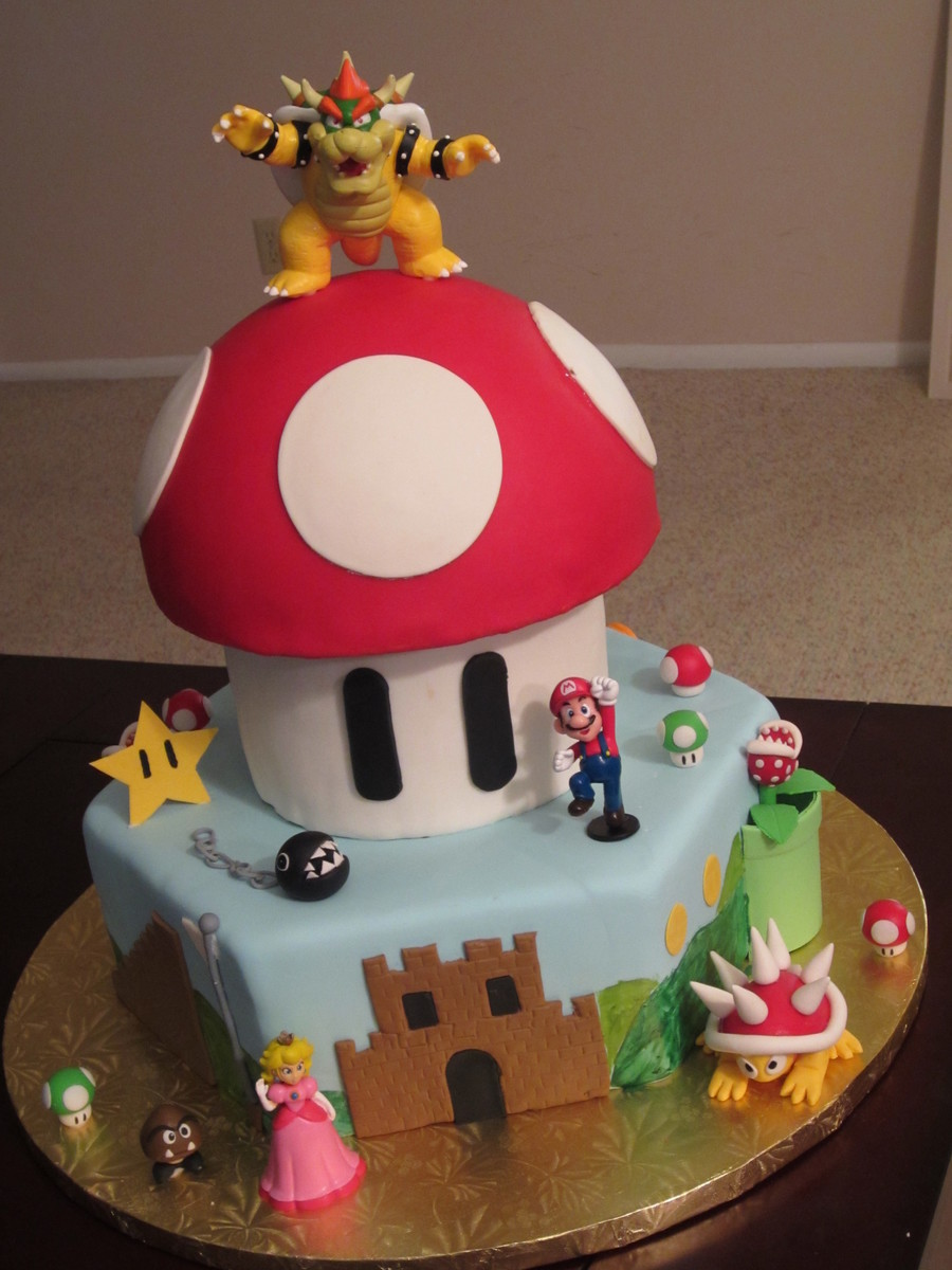 Gateau Enfant Fille Super Mario Bros Cake Made For A 5 Year Old Boys Birthday