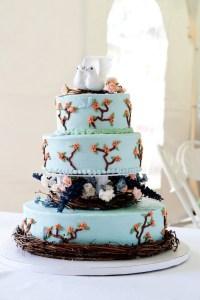 Bird/nature Themed Wedding Cake - CakeCentral.com
