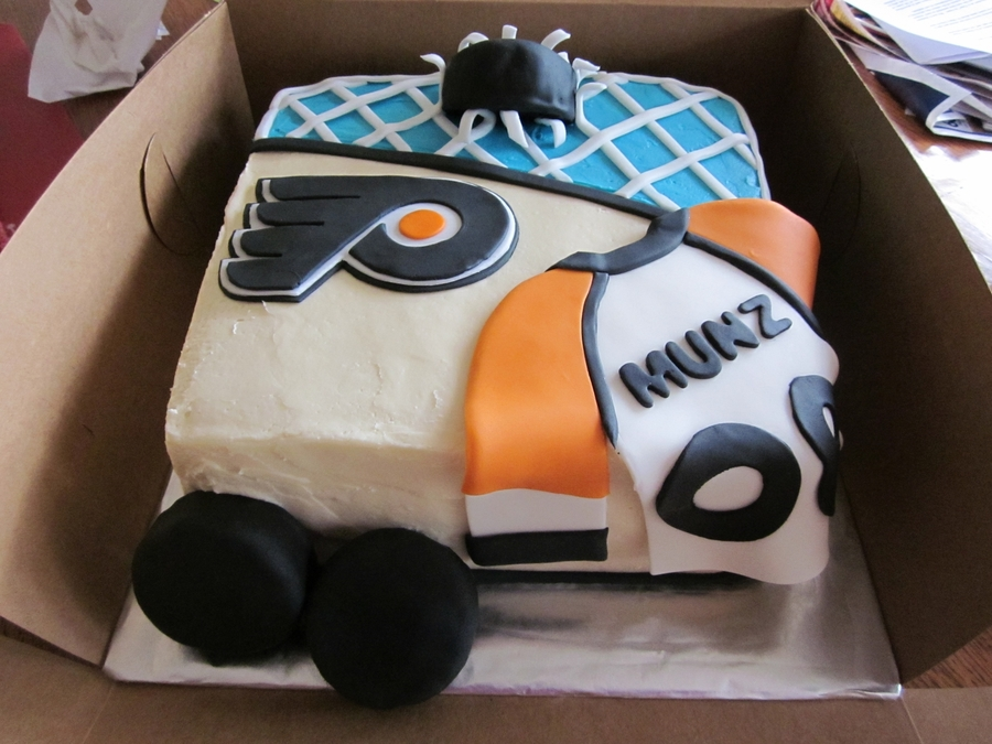 Flyers Hockey Cake - CakeCentral