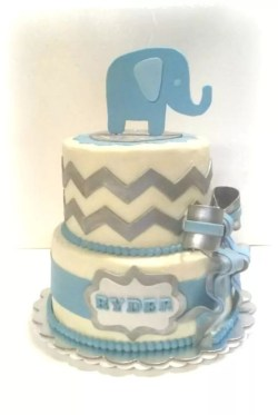 Sparkling Deer Baby Boy Shower Cakes At Walmart Elephant Chevron Baby Shower Cake Chevron Baby Shower Cake Boy On Cake Central Elephant Boy Baby Boy Shower Cakes