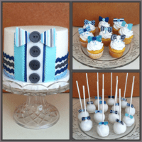 Little Man Bow Tie Baby Shower - CakeCentral.com
