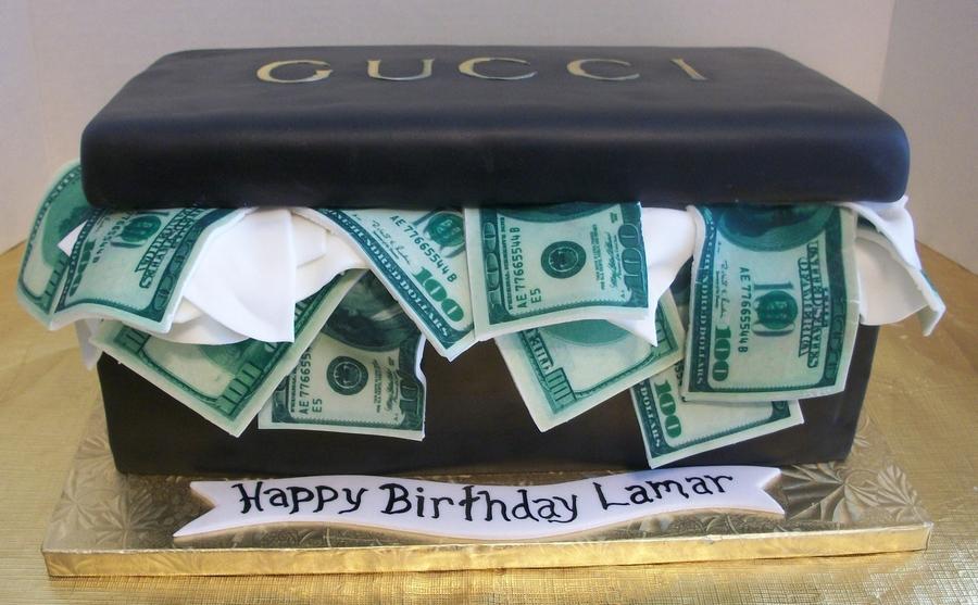 Gucci Shoe Box W Money Cake Cakecentralcom