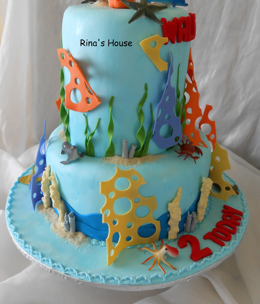 A Finding Nemo Themed Cakevanilla Sponge Cakes Top