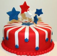 July 4Th Fireworks Cake - CakeCentral.com