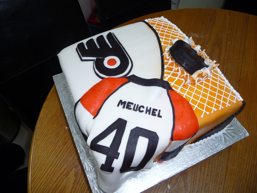 Philly Flyers Cake - CakeCentral