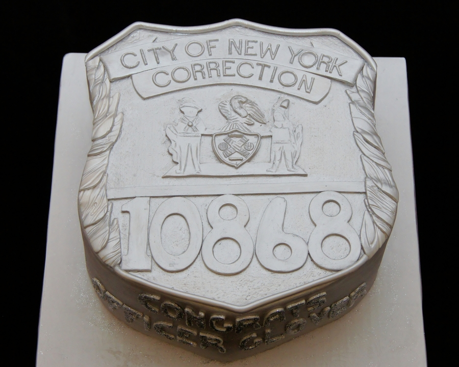 Ny Correction Office Badge 3D Cake - CakeCentral
