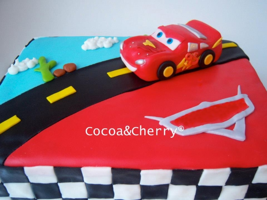Lightning Mcqueen Cake Cakecentralcom